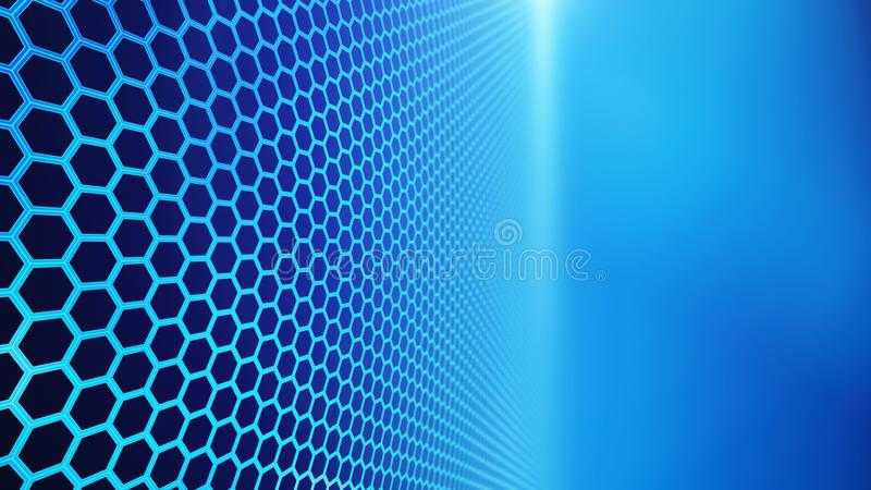 Panel of hexagons, technology abstract hexagons background vector illustration