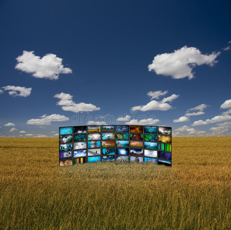 Download Panel of Images in Field stock illustration. Image of image - 21834183