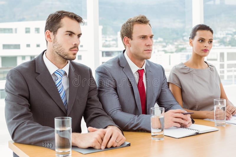 Panel korporacyjni kadrowi oficery w biurze obrazy royalty free