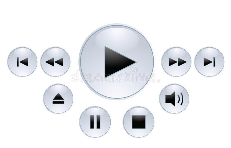 Download Panel For Media Player Royalty Free Stock Image - Image: 6532276