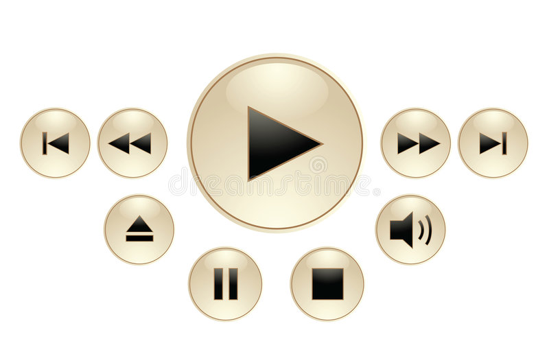 Panel For Media Player Royalty Free Stock Images