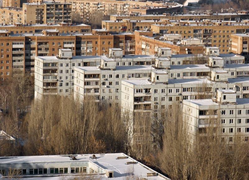 Panel model homes. stock photography