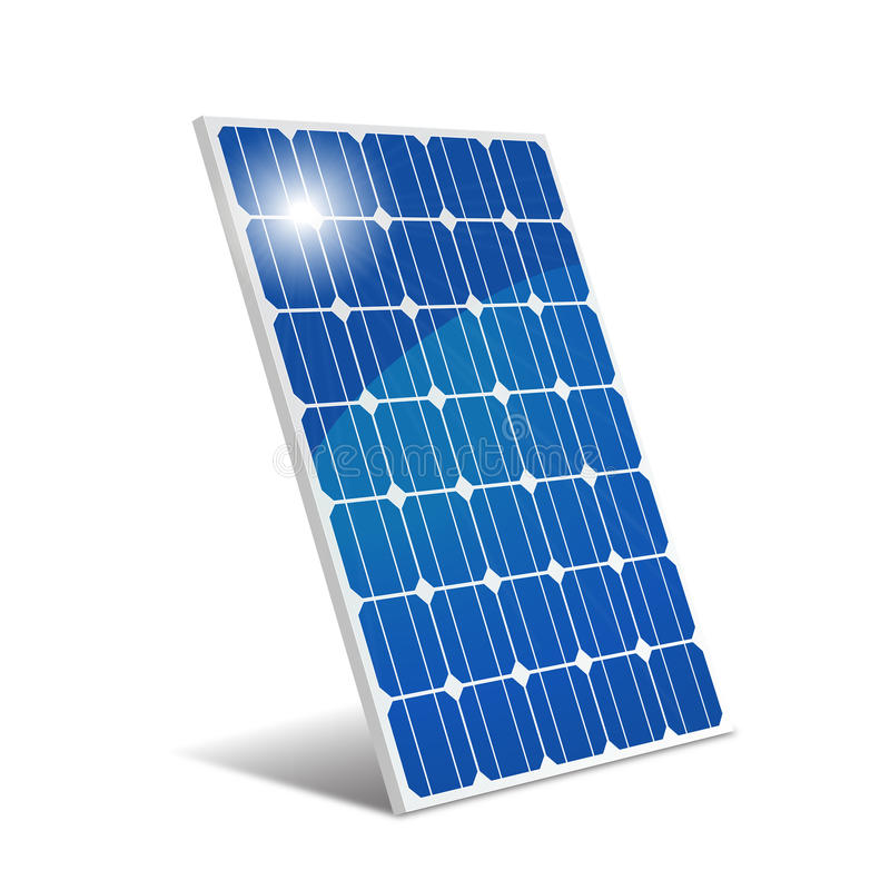 Panel photovoltaic vector illustration