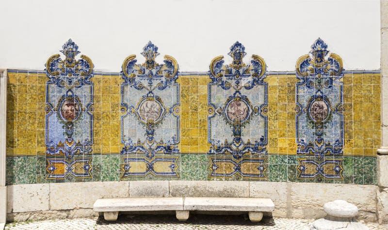 Panel polichromiczne płytki xix wiek obraz royalty free