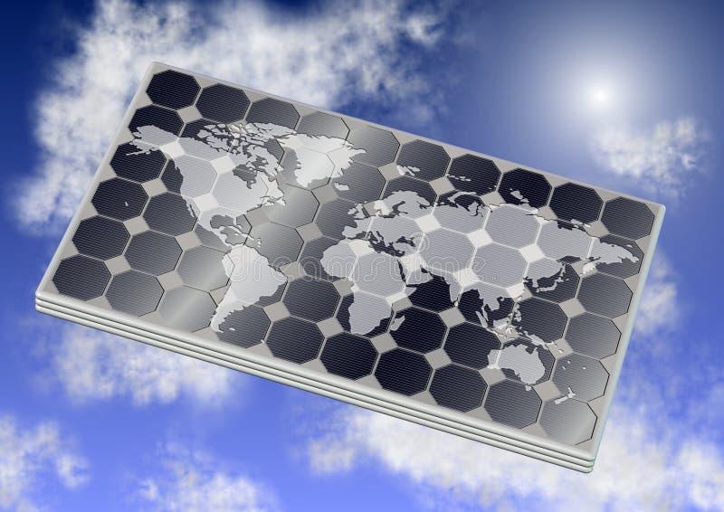 Panel słoneczny i świat royalty ilustracja