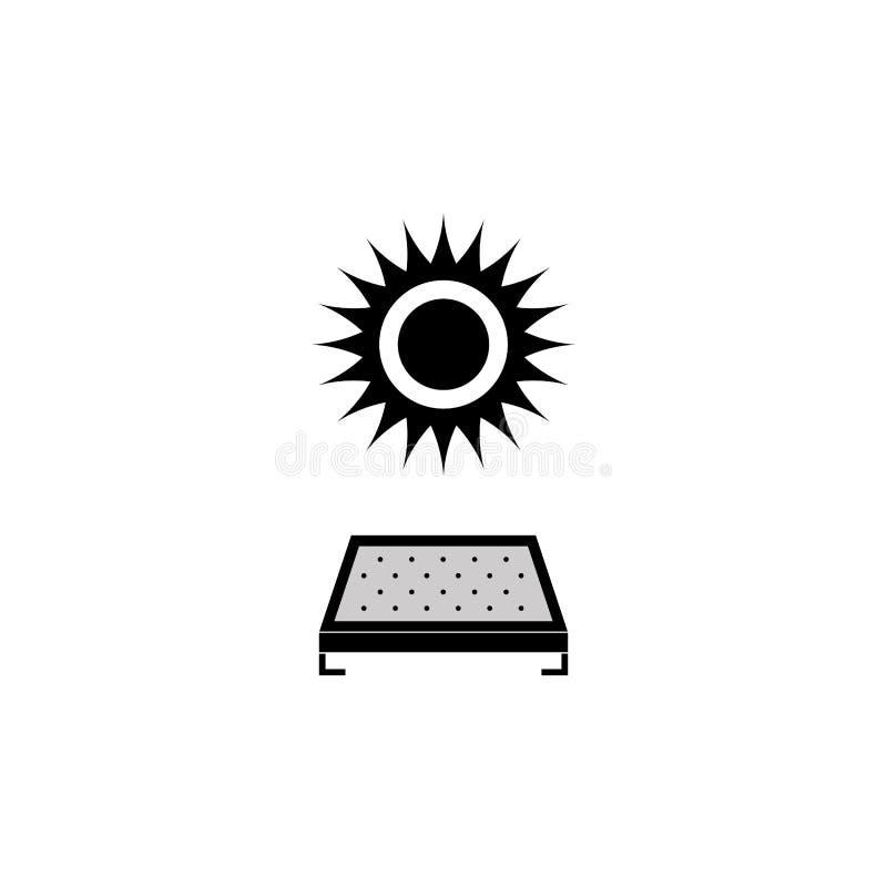 Panel słoneczny ikona, ratuje energię tutaj ilustracja wektor