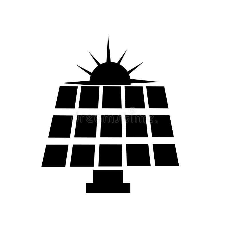 Panel słoneczny ikony wektoru znak i symbol odizolowywający na białym tle, panelu słonecznego logo pojęcie ilustracja wektor