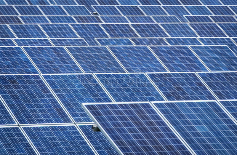 Panel Słoneczny - Photovoltaic obraz royalty free