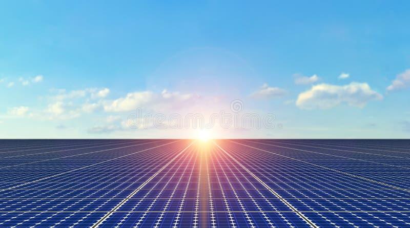Panel Słoneczny - tło obraz stock