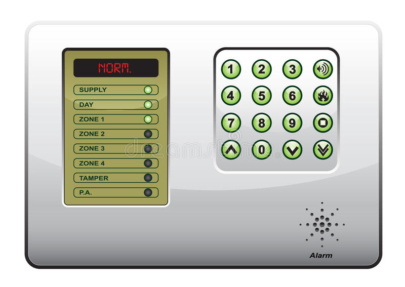 The panel of the security system vector illustration