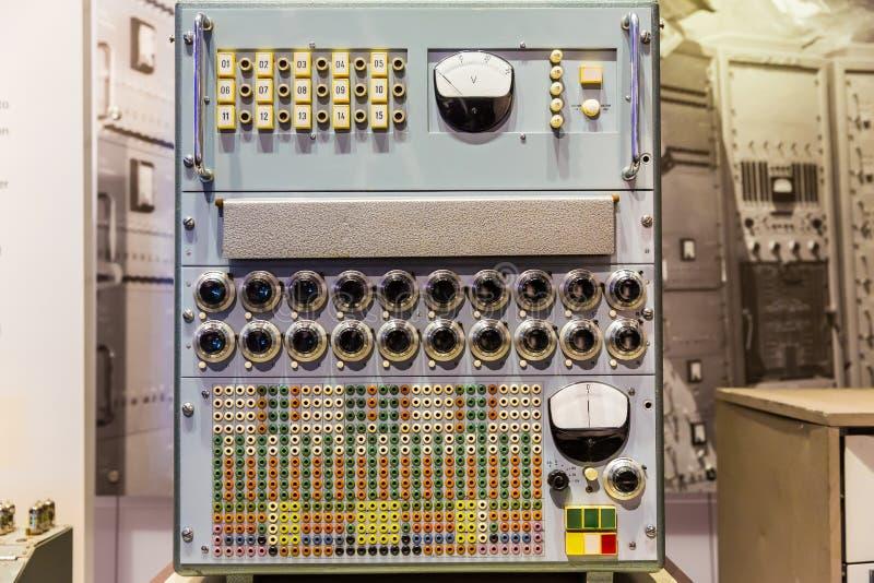 Panel stara kalkulatorska maszyna zdjęcia stock