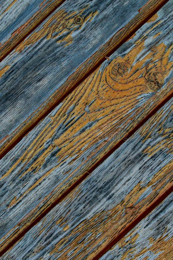 Panel starych desek połogie linie struga pomarańczowego farby tła grunge projektują równoległe serie zdjęcia stock