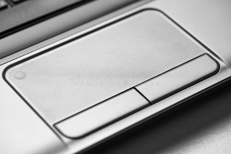 Panel táctil y botones, foto macra del ordenador portátil imagen de archivo libre de regalías