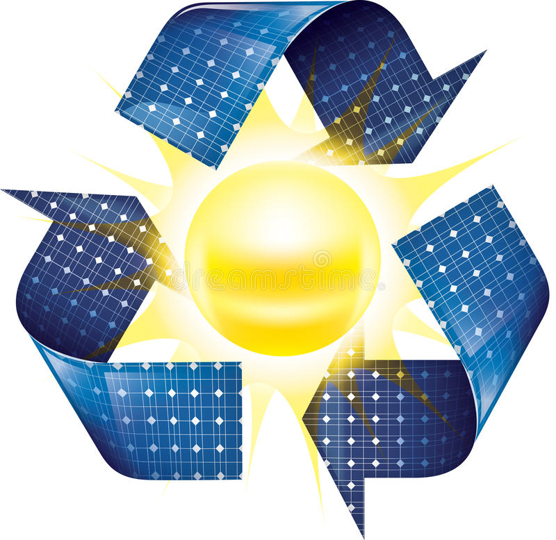 panel tła niebieskiej władze słoneczna wersja zdjęcie royalty free