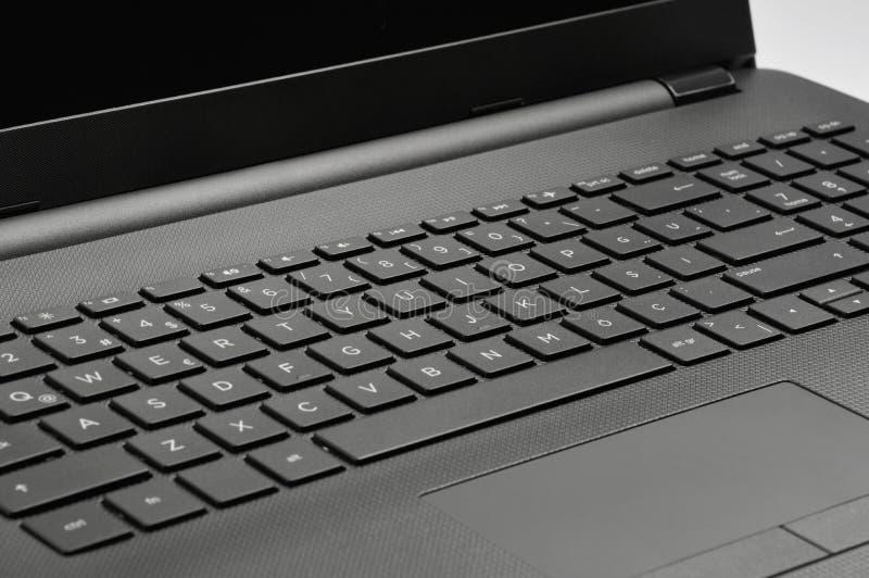 Panel t?ctil y teclado del ordenador port?til imagen de archivo libre de regalías