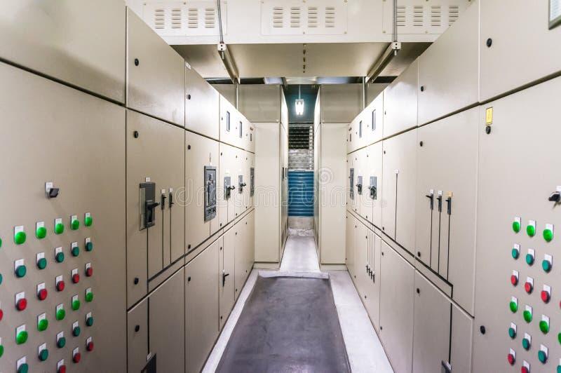 Panelboard eléctrico para el control de motores imagen de archivo