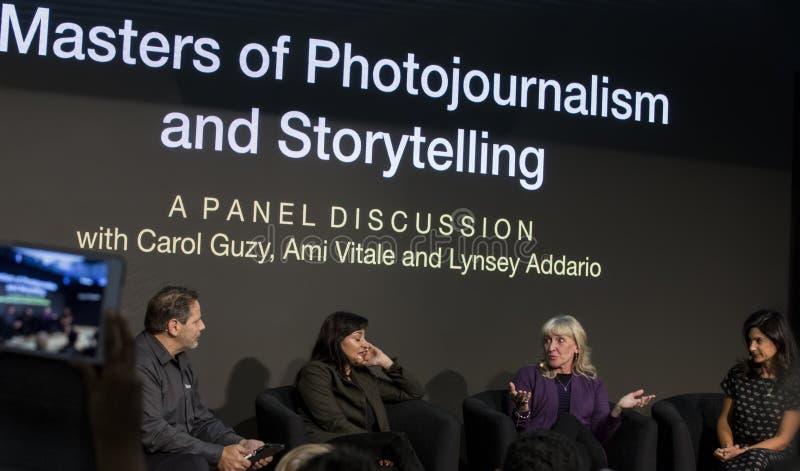 Paneldeltagare på den Photoplus expon 2018 royaltyfria foton