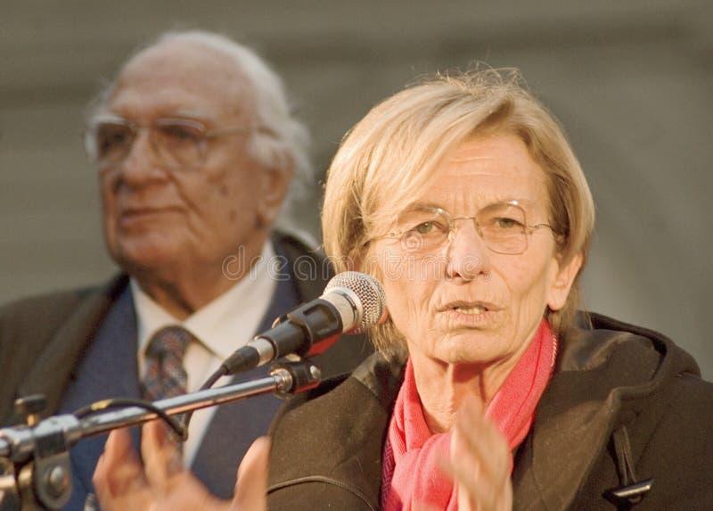 Panella en Emma Bonino van Marco royalty-vrije stock afbeelding