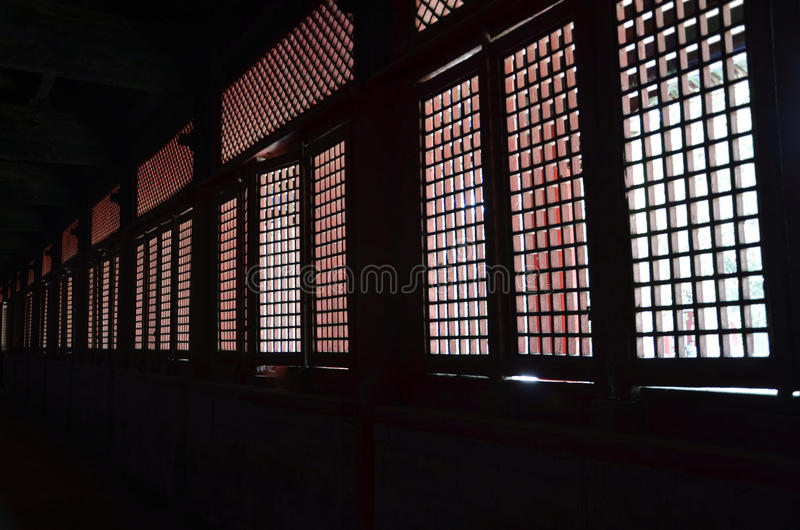 Panelljusfönster royaltyfri fotografi