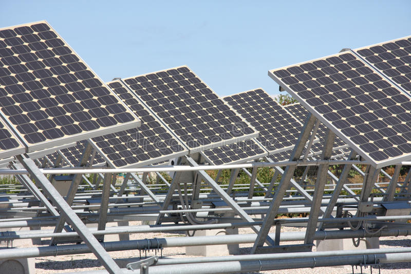 Panels Photovoltaic Royalty Free Stock Photography