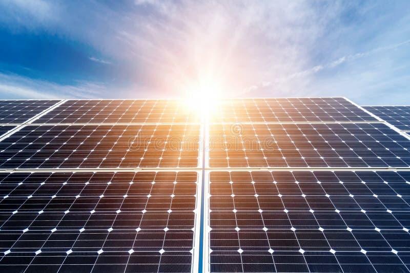 panels photovoltaic royaltyfri bild