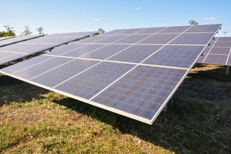 panels photovoltaic sol- arkivbilder