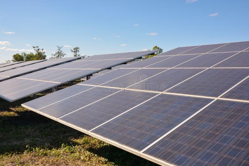 panels photovoltaic sol- royaltyfria bilder