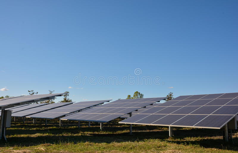 panels photovoltaic sol- royaltyfria foton