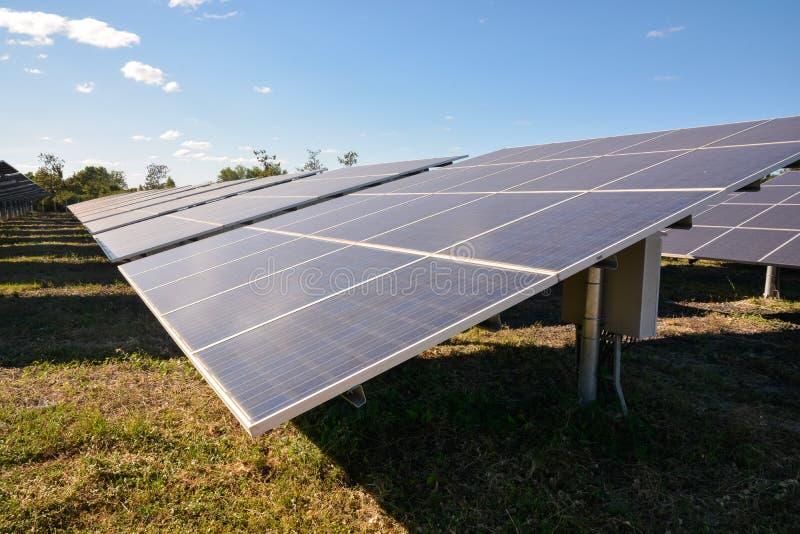 panels photovoltaic sol- fotografering för bildbyråer