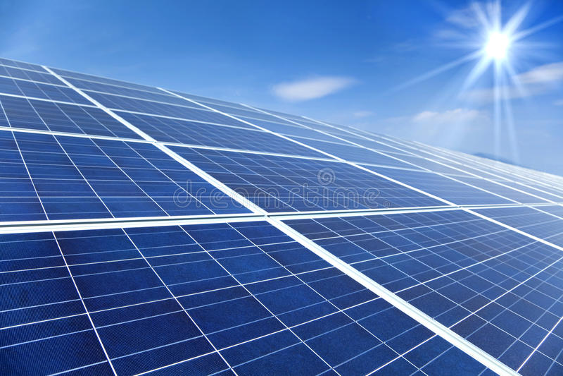 panels sol- solljus royaltyfri bild