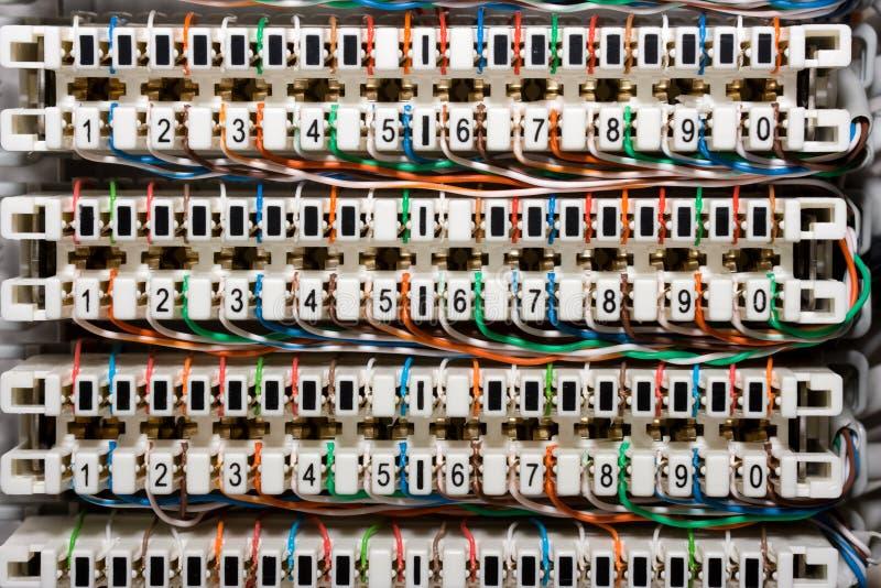 paneltelefontrådar arkivfoton
