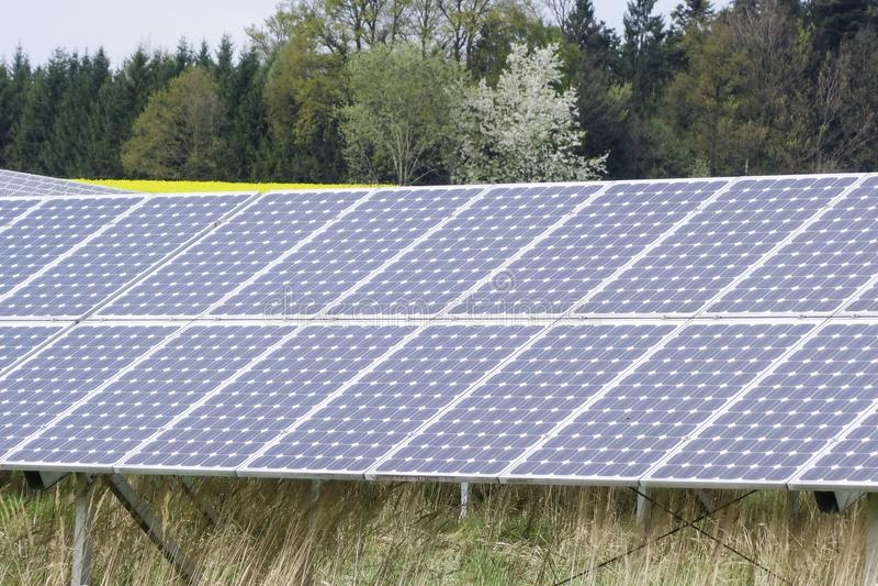 panelväxtström sol- södra spain arkivfoto