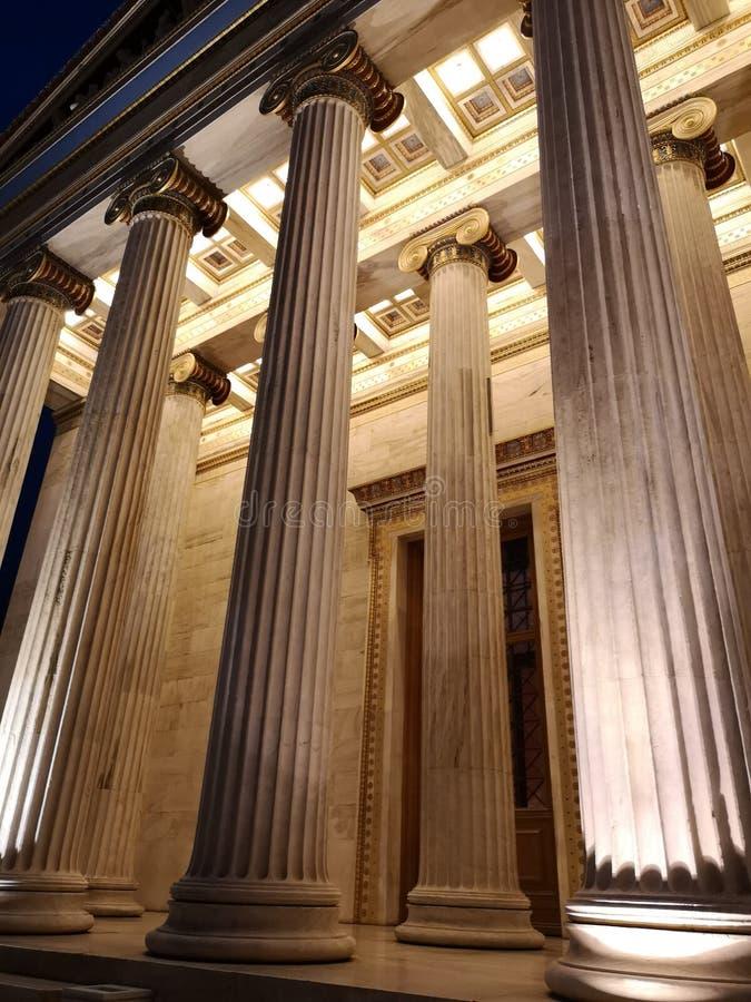 Panepistimio, academia do nacional de Atenas imagem de stock royalty free