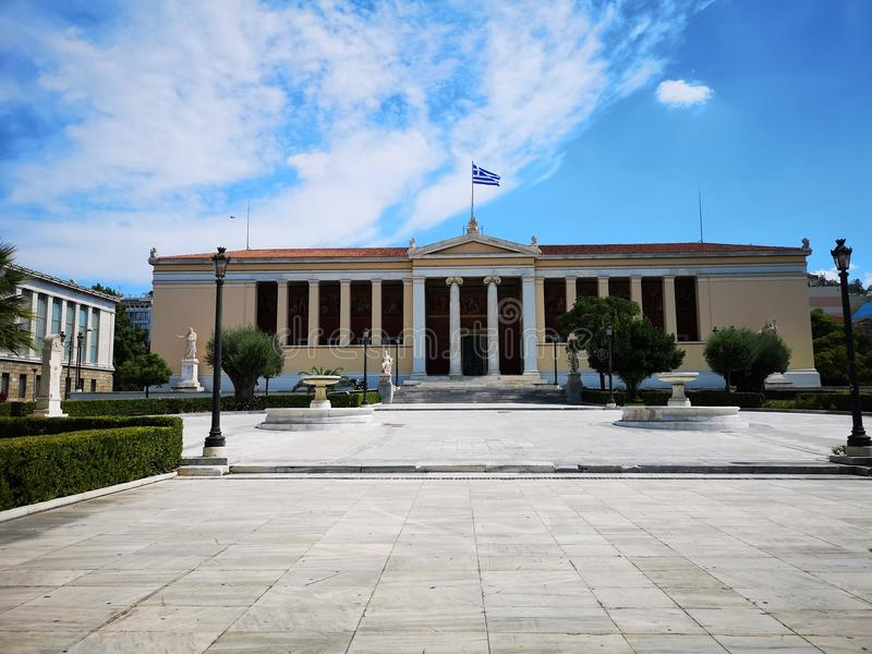 Panepistimio, Athens National Academy stock photo