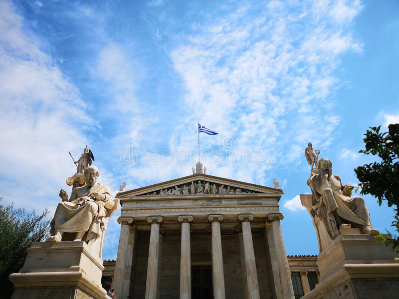 Panepistimio, Athens National Academy royalty free stock image