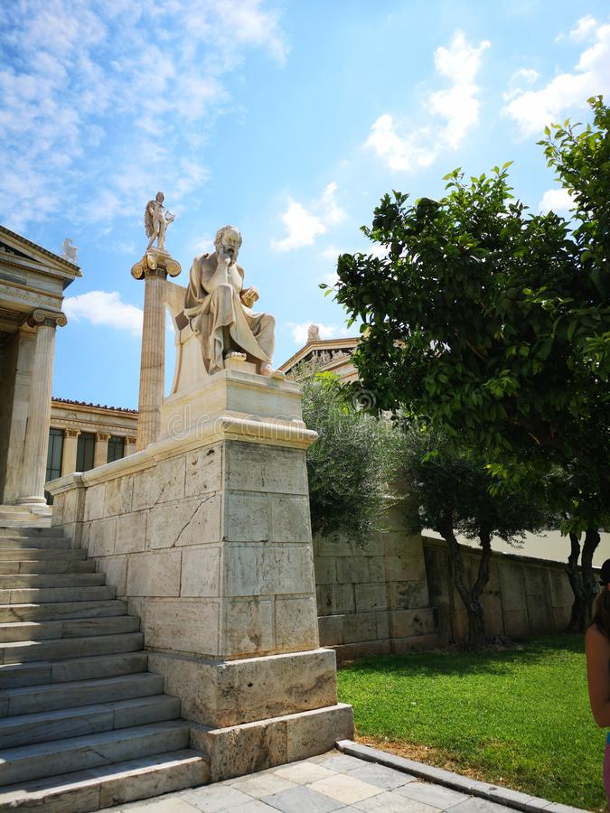 Panepistimio, Athens National Academy stock images