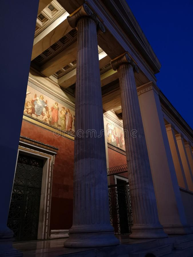 Panepistimio, Athens National Academy royalty free stock photos