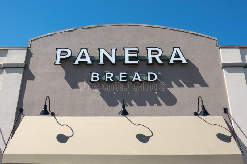 Panera面包为它的百吉卷是知名的 免版税库存图片