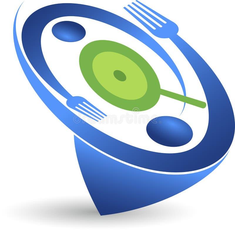 panera kallat klippa restaurangen för fotoet för mrcajevcien för meat för logoen för festivalmatkupusijadaen sex tabeller taget royaltyfri illustrationer