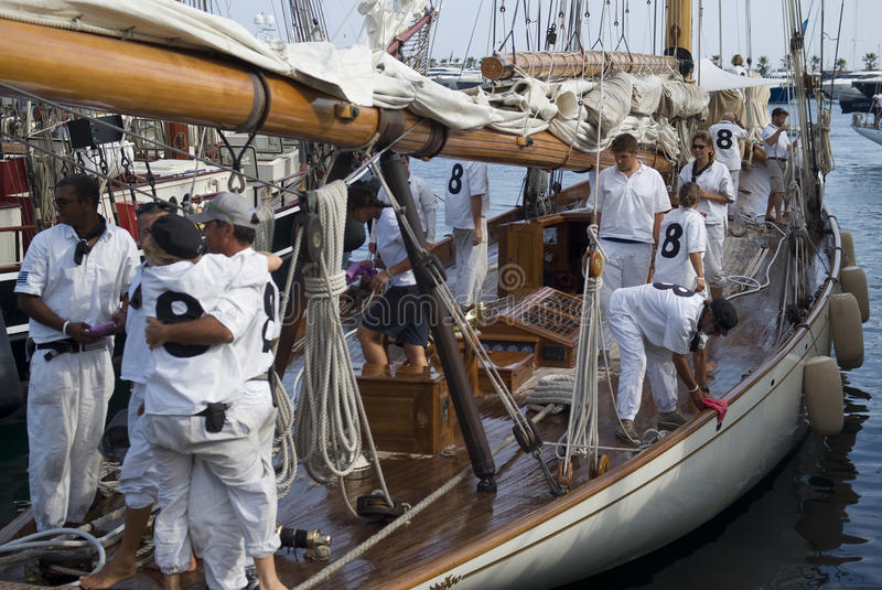Panerai Classic Yachts Challenge, Imperia, Italy royalty free stock photo