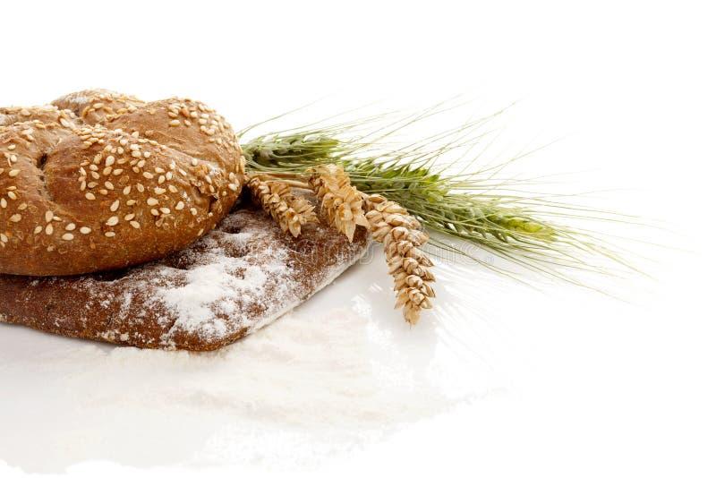 Panes suaves y cauchutosos del trigo integral imagen de archivo