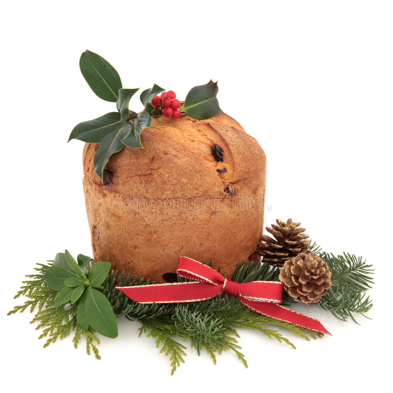Download Panettone Christmas Cake stock image. Image of cone, fruitcake - 21292447