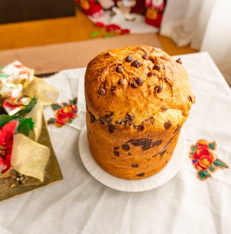 Panettone dessert stock photography