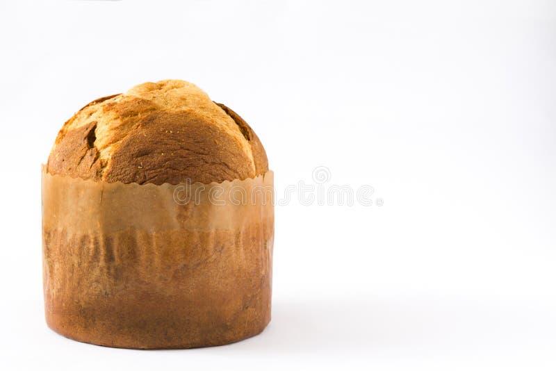 Panettone do bolo do Natal isolado fotos de stock