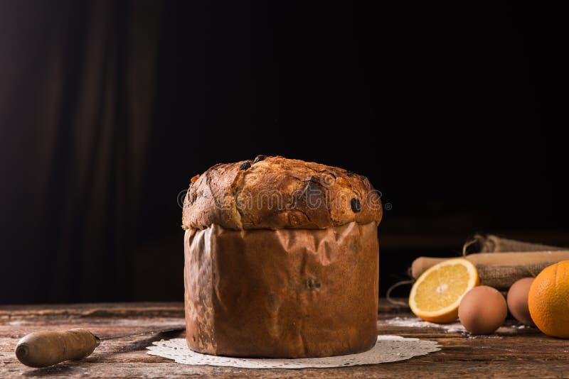 Panettone the italian Christmas Cake royalty free stock photo