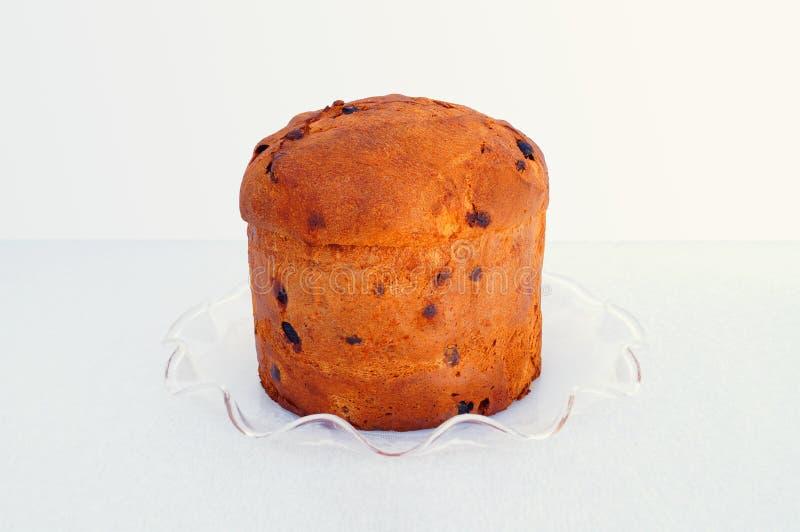Panettone italiano do fruto-bolo do Natal imagem de stock