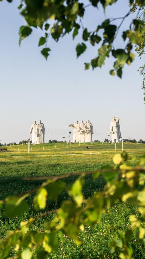 Panfilov分裂的光彩的英雄的纪念品,被击败的法西斯主义者在莫斯科作战, Dubosekovo,莫斯科地区,俄罗斯 库存图片