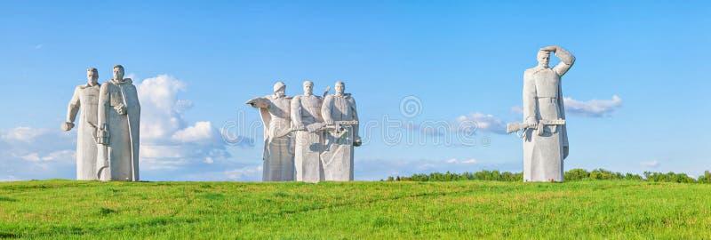 Panfilov战士纪念在Nelidovo 免版税库存照片