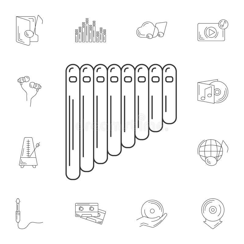 Panfluitpictogram Eenvoudige elementenillustratie Panfluitsymbool DE stock illustratie