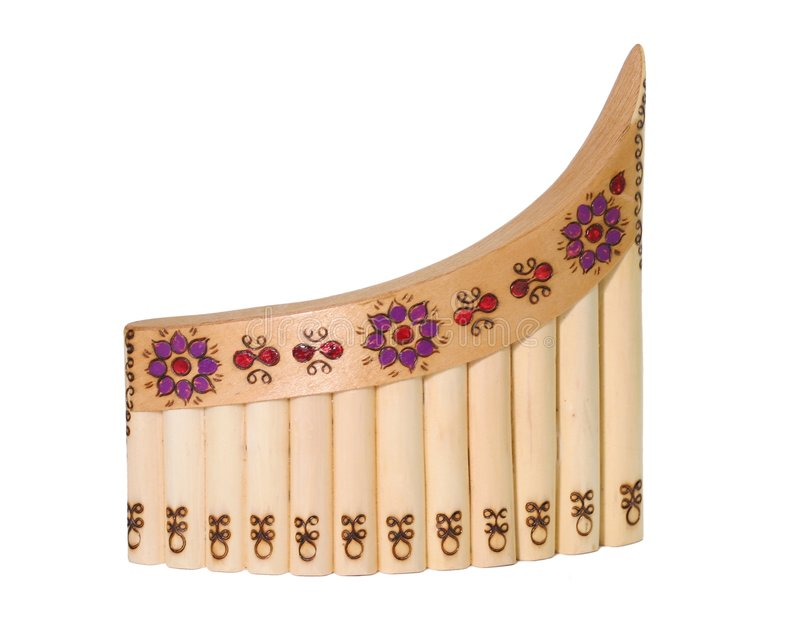 Panflute royalty-vrije stock afbeelding